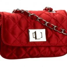 Wizytowa satynowa pikowana torebka MENBUR na łańcuszku ME-823620007-RE