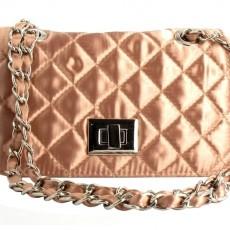 Wizytowa satynowa pikowana torebka MENBUR na łańcuszku ME-823630029-BE