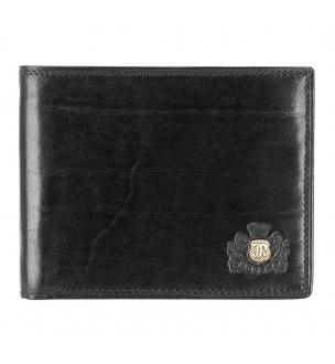 Czarne etui na karty firmy Wittchen z linii Da Vinci